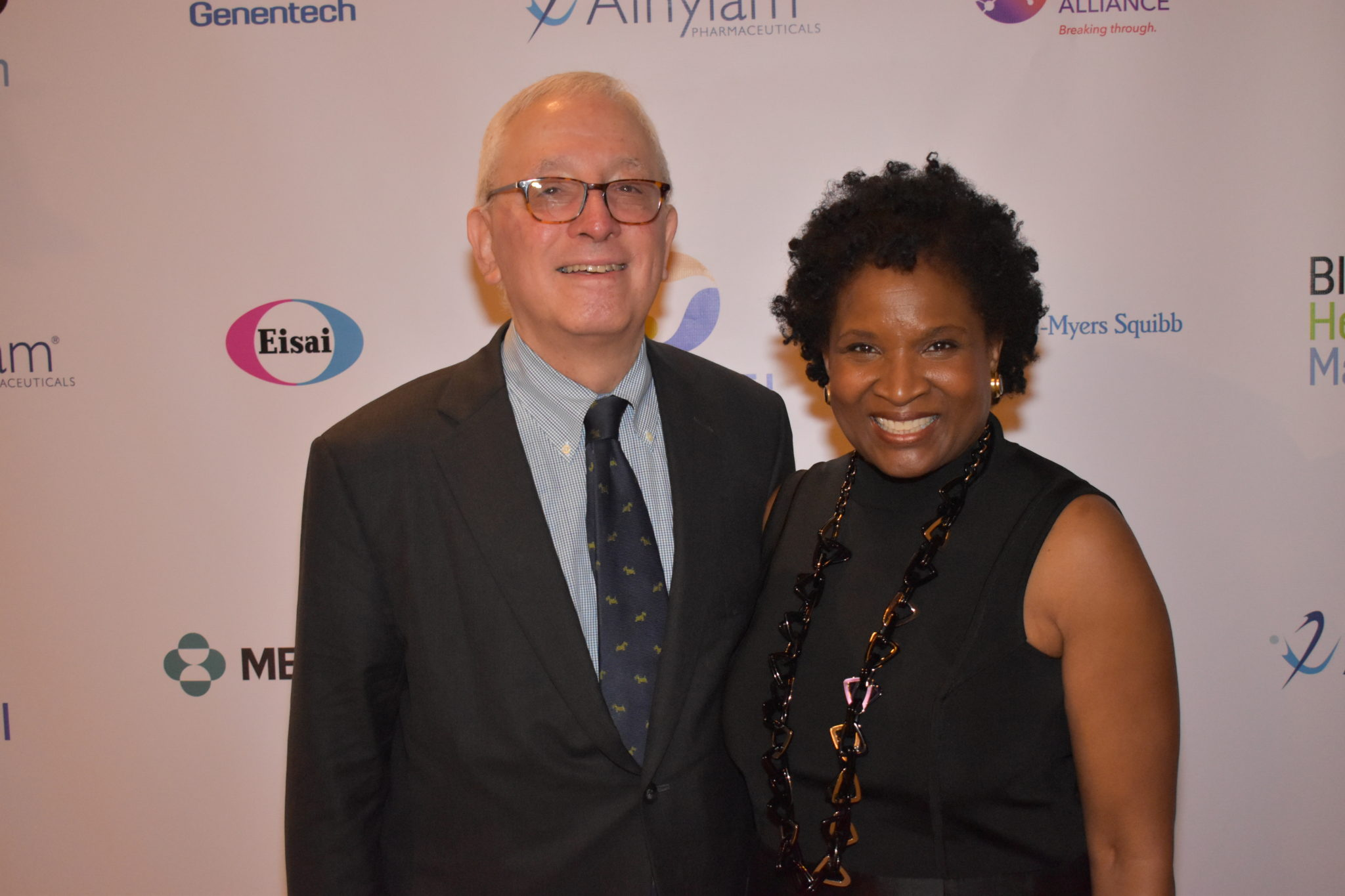 Dr. Lewis Kampel with Founder Roslyn Y. Daniels at the Black Health Matters Summit.