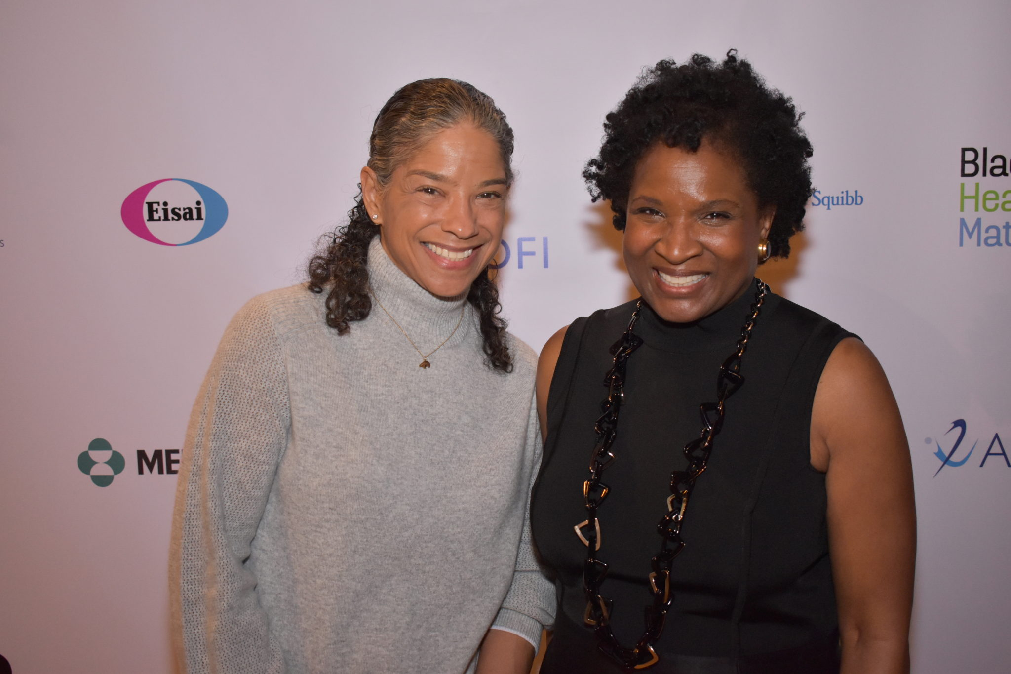 Dr. Carol Brown with Founder Roslyn Y. Daniels at the Black Health Matters Summit
